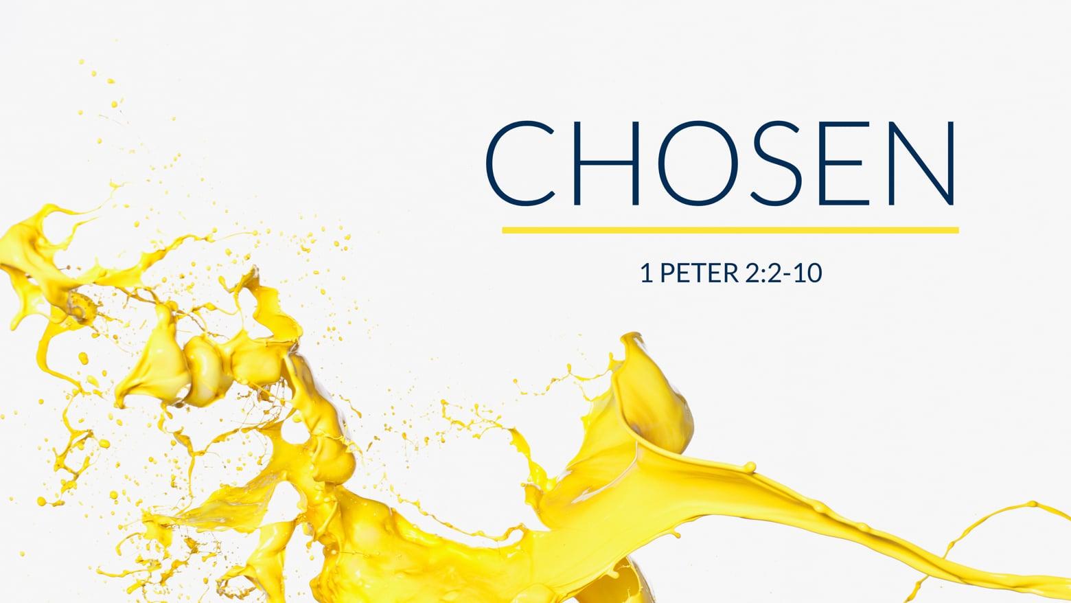 Chosen // 1 Peter 2:2-10
